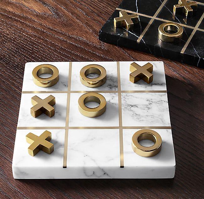 Настольная игра из мрамора - крестики нолики, Изделие №а05