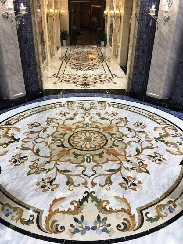 Мраморный пол мозаика