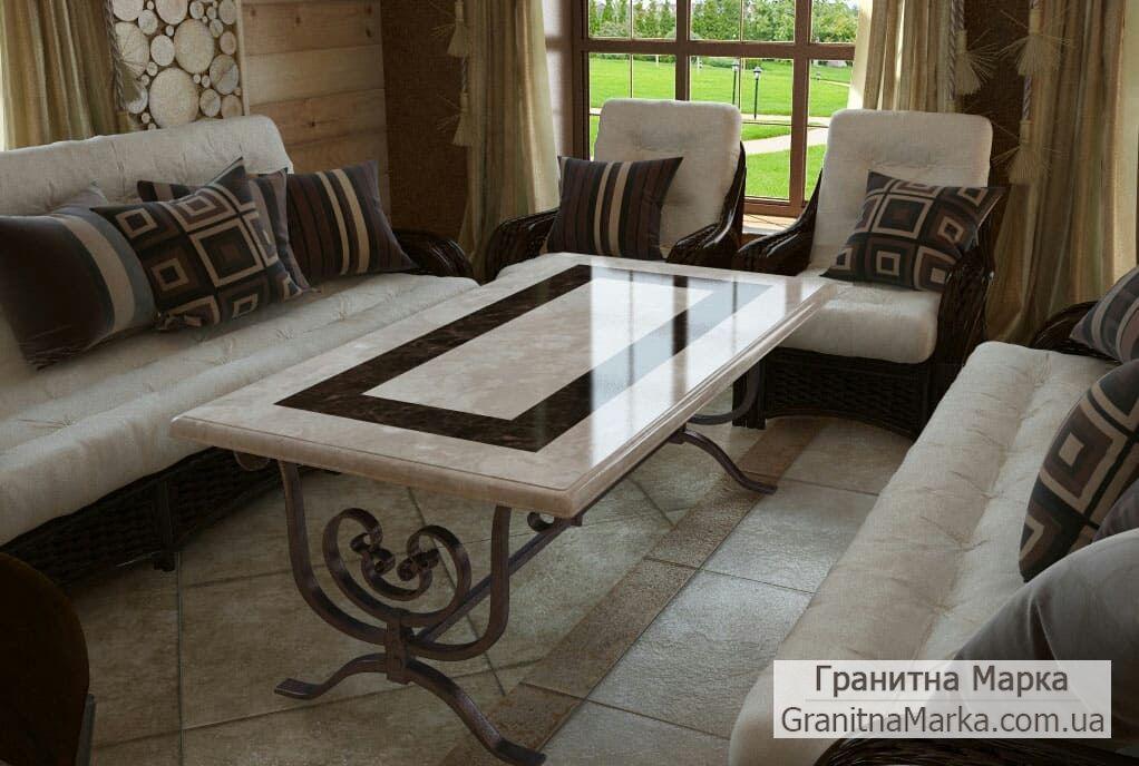 Мраморный столик в гостиную