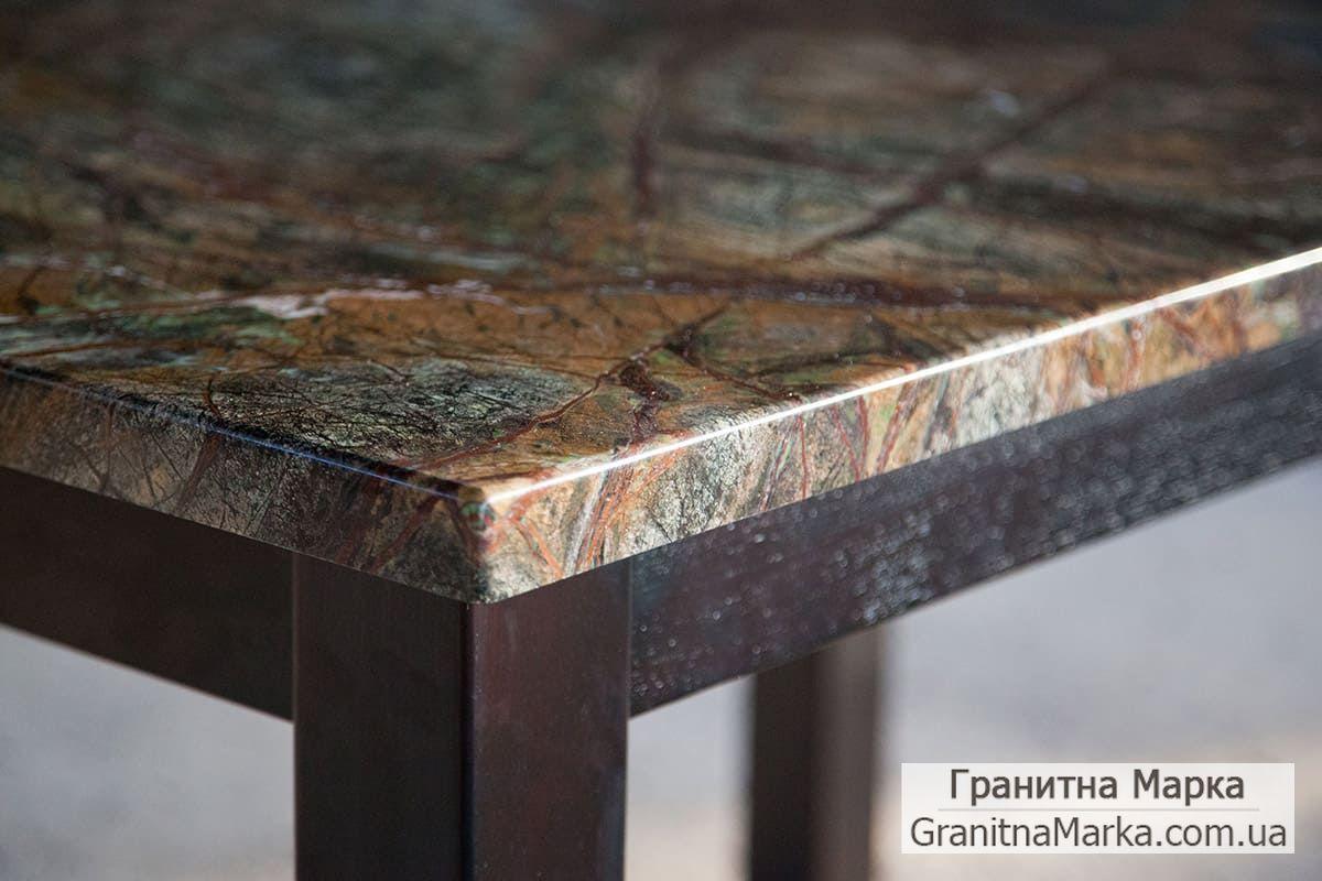 Стол с мраморной столешницей, индийский мрамор Rain Forest green