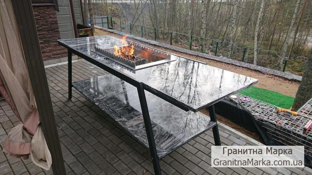 Гранитный стол-мангал