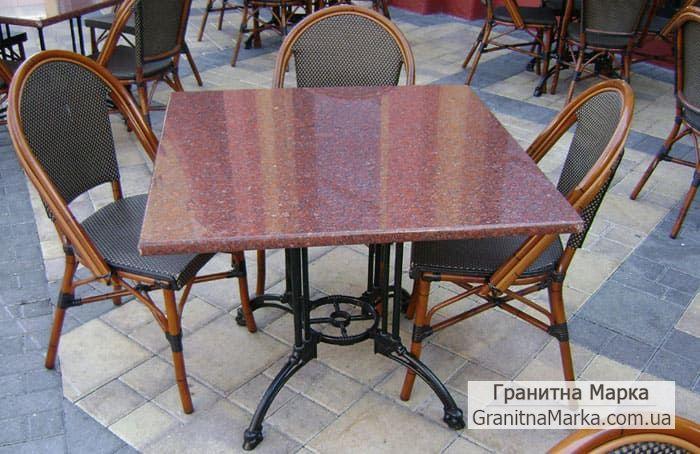 Уличный столик из гранита для кафе
