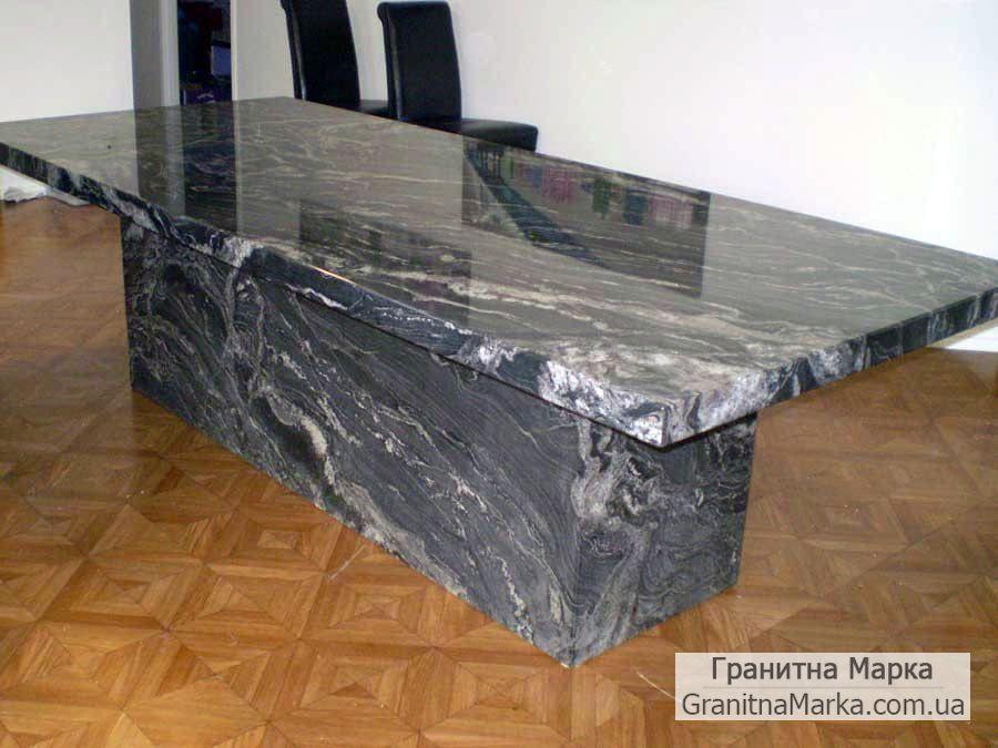 Монолитный мраморный стол для переговоров