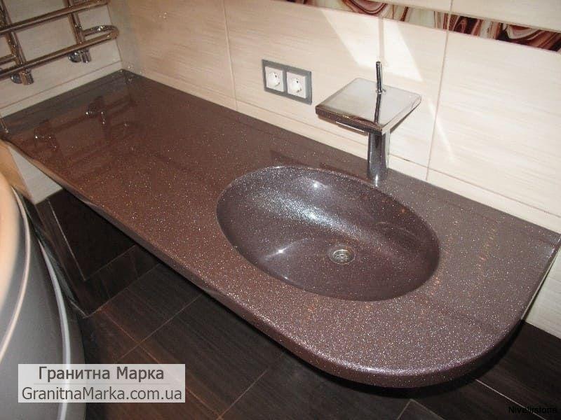 Гранитный умывальник для ванной
