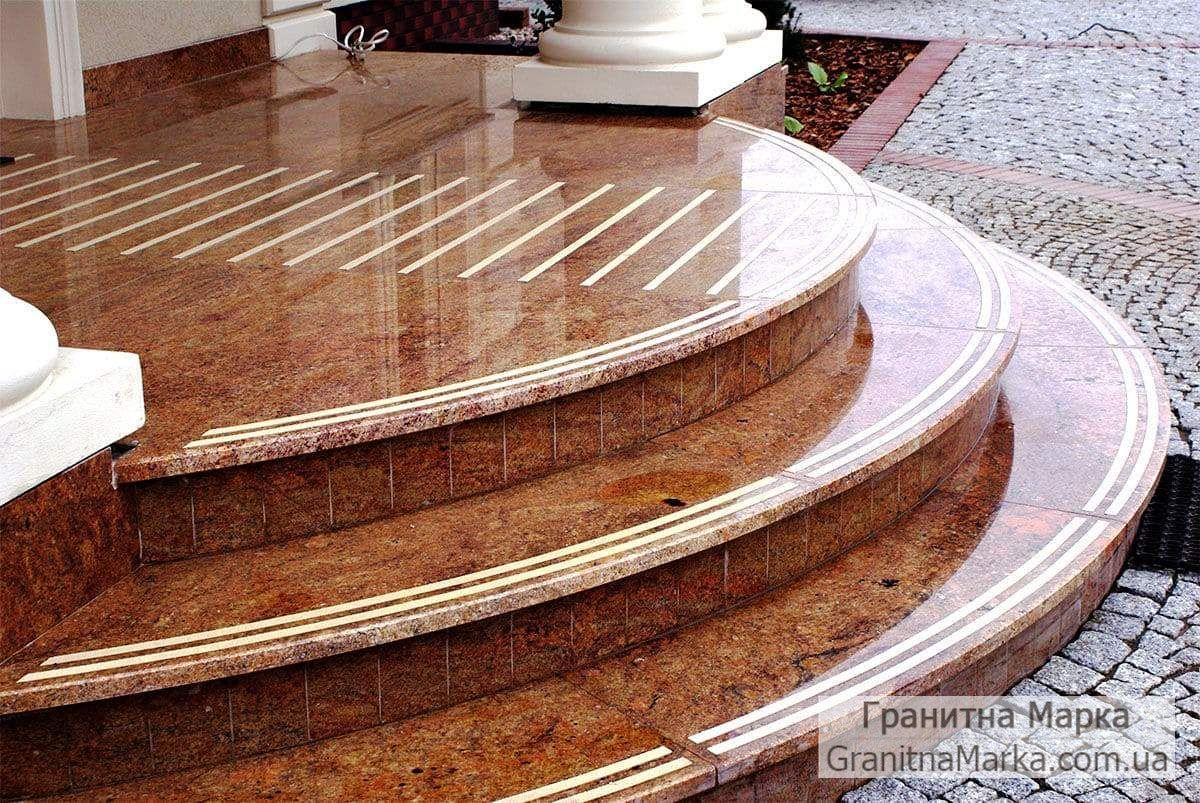 Гранитные ступени для крыльца, фото №04