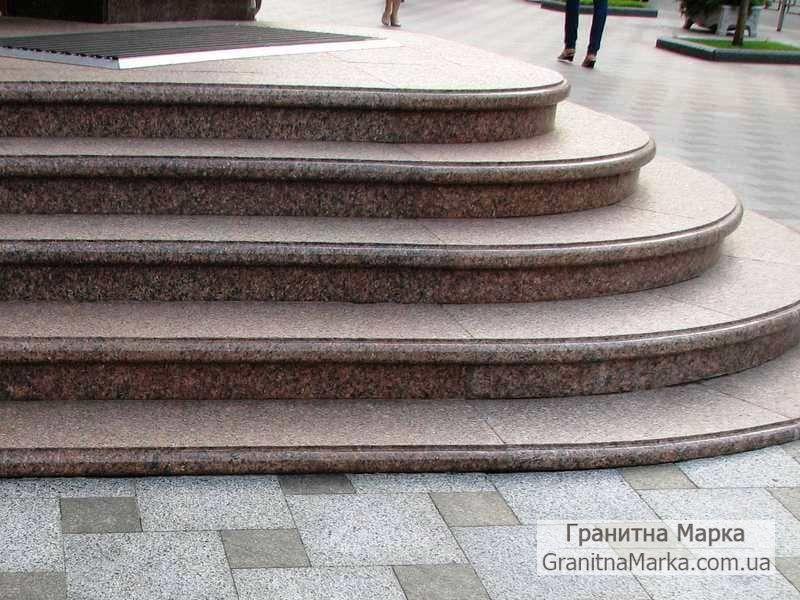 Гранитные ступени для крыльца, фото №08