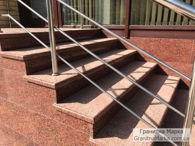 Накладные ступени гранитные термообработанные, фото №22