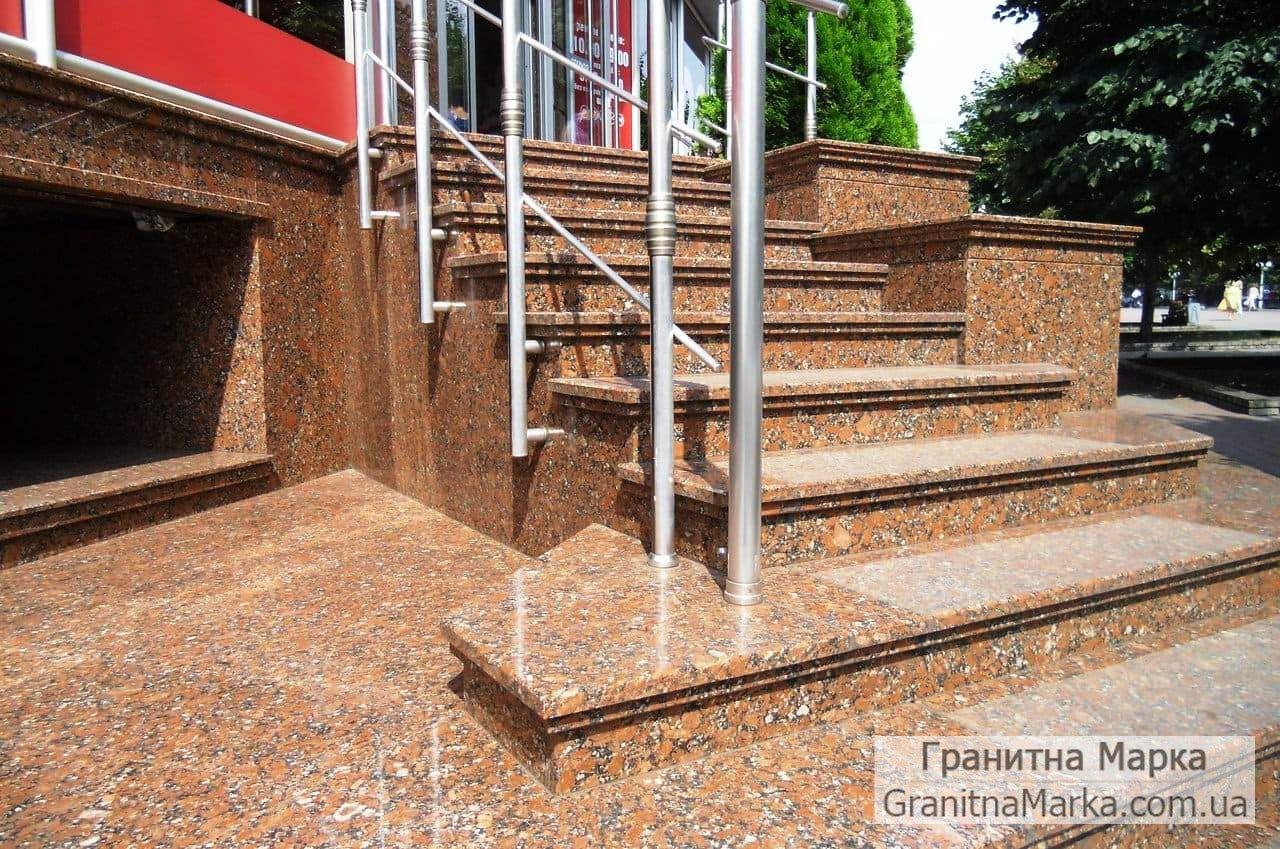 Гранитные ступени для крыльца, фото №31