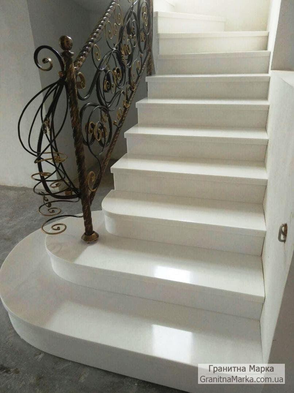 Мраморные ступени для лестницы, фото №05