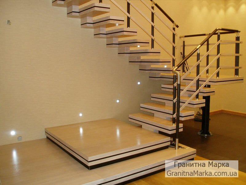 Мраморная лестница в стиле модерн, фото №01