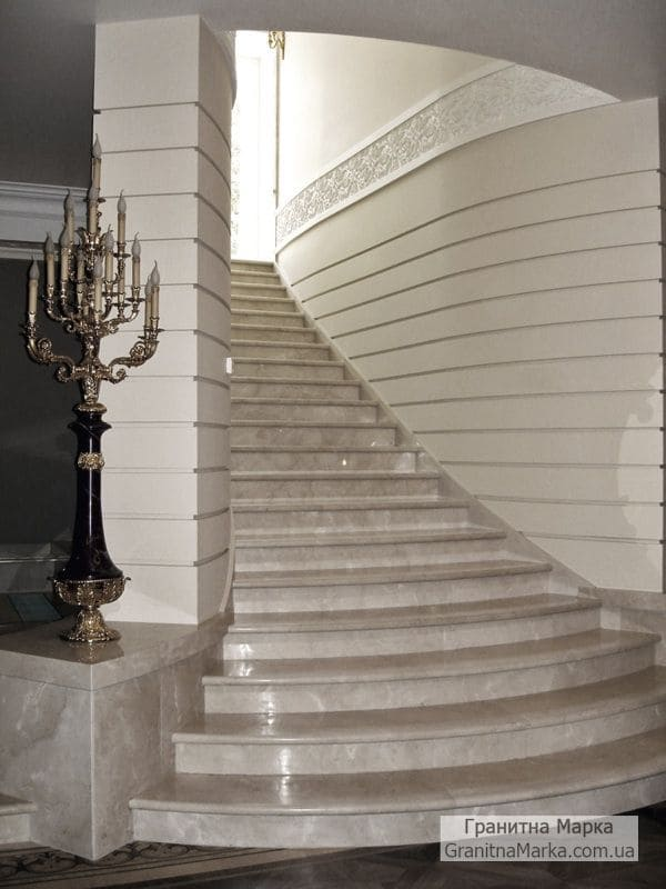 Облицовка ступеней и стен мрамором, фото №04