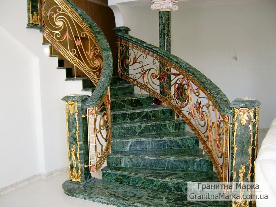Лестница из зеленого мрамора, фото №10