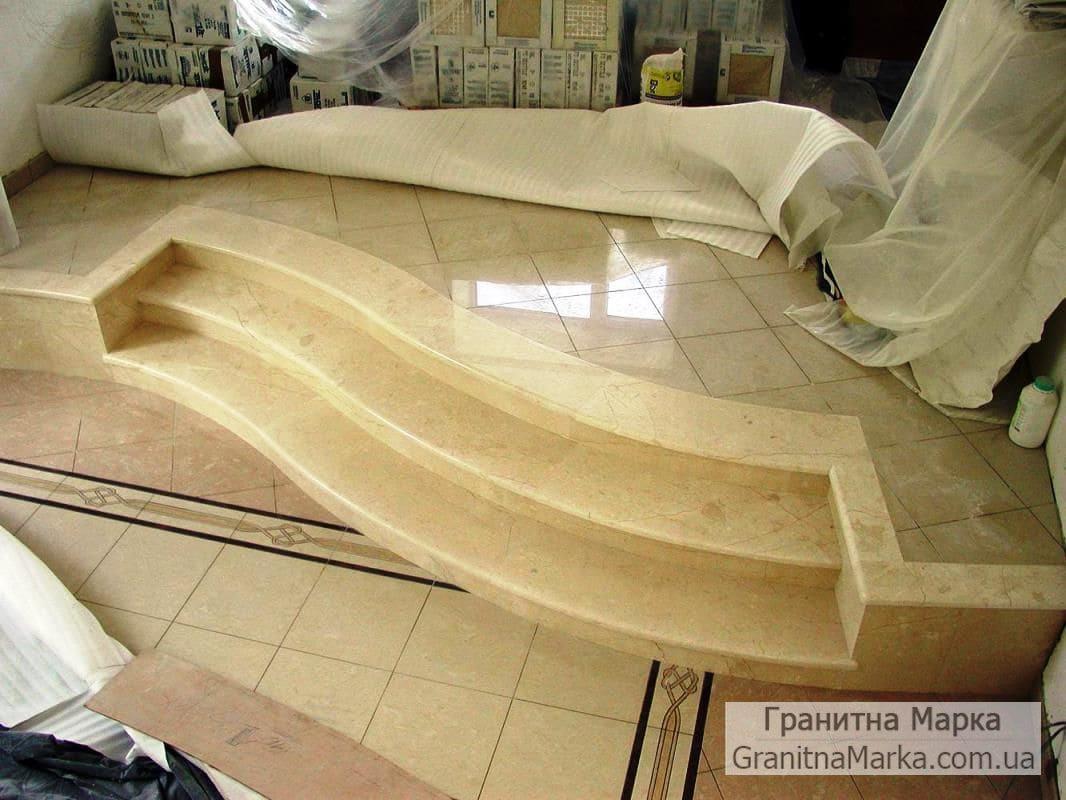 Мраморные ступени в доме, фото №21