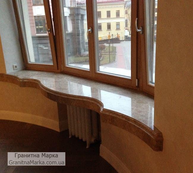 Фигурный Мраморный подоконник (толстый, эксклюзивный), фото №10