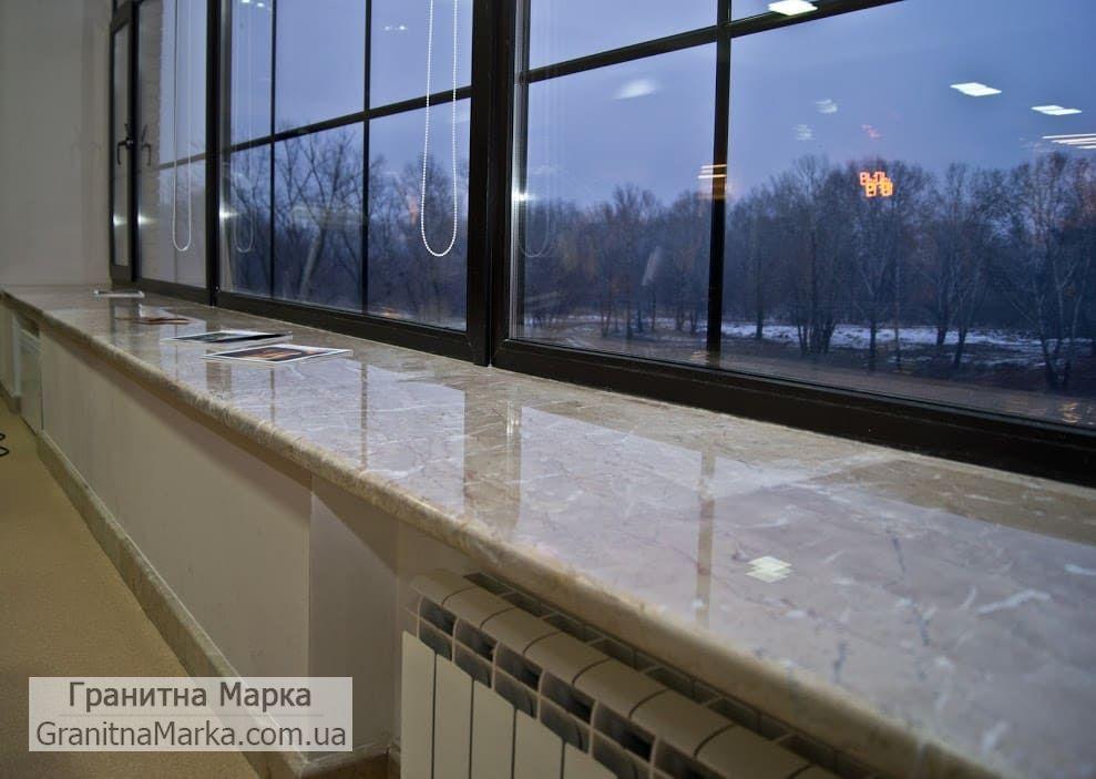 Мраморный подоконник большой длины, фото №44