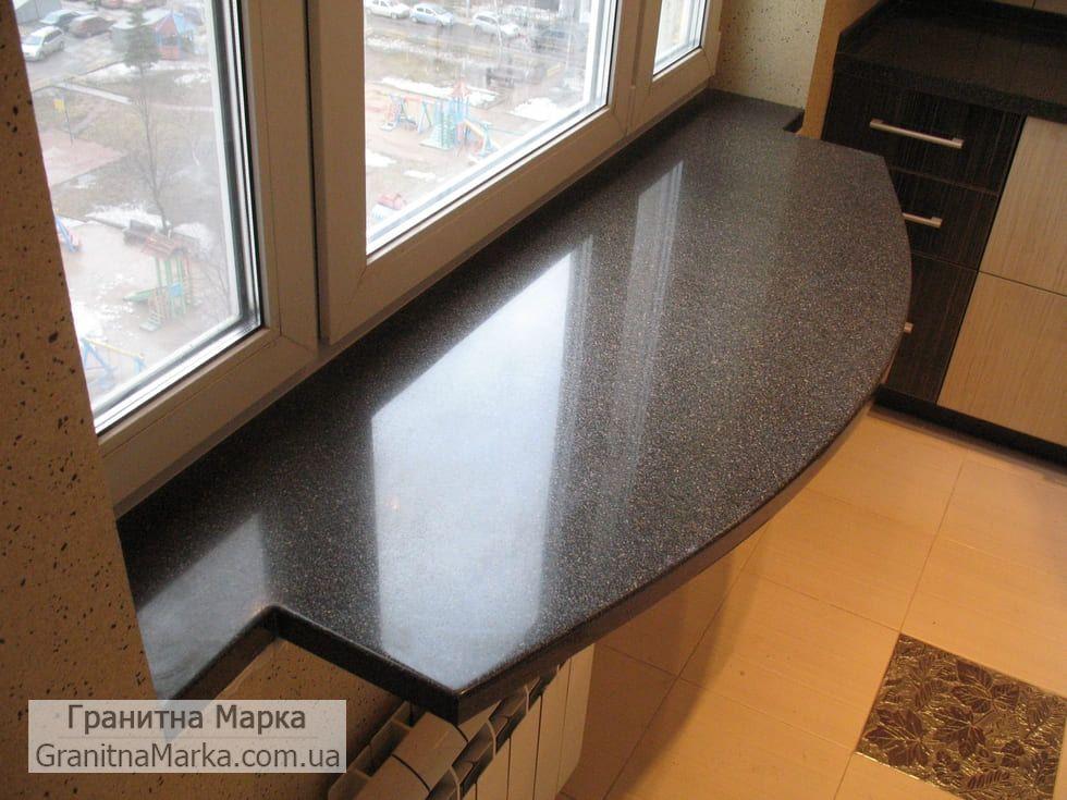 Гранитный стол-подоконник черного цвета, фото №66
