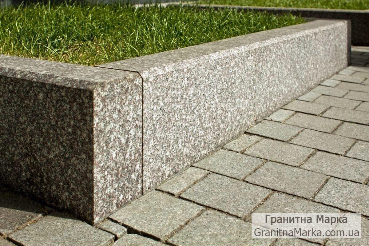 Садовый бордюр (поребрик) гранитный, фото №09