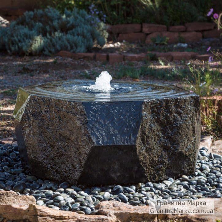Садовый фонтан из гранитного блока, фото №102