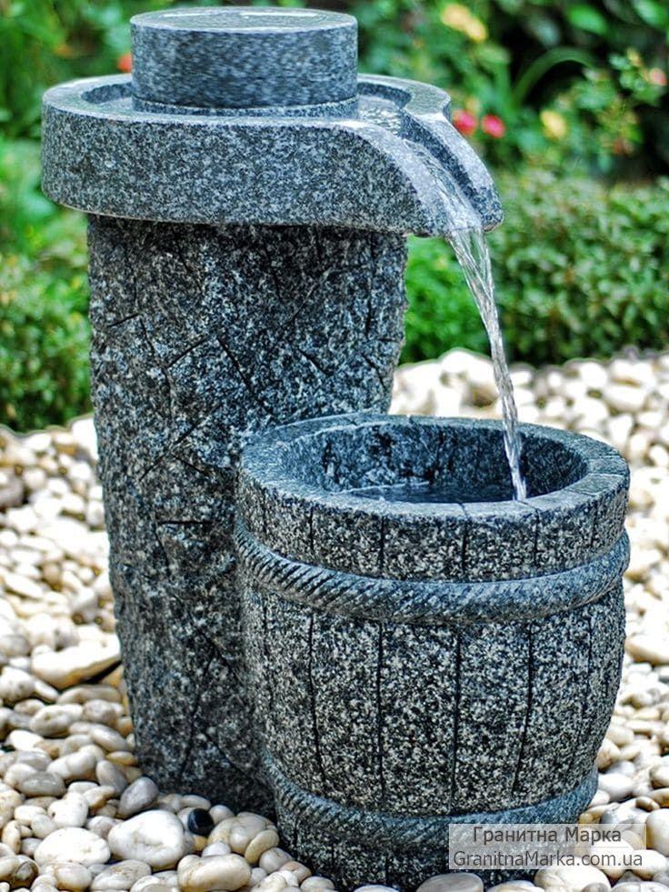 Садовый Мини-фонтан из гранита, фото №103