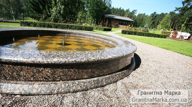 Облицовка бассейна фонтана гранитом, фото №118