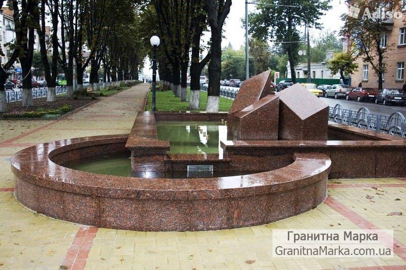 Городской фонтан из гранита, фото №121