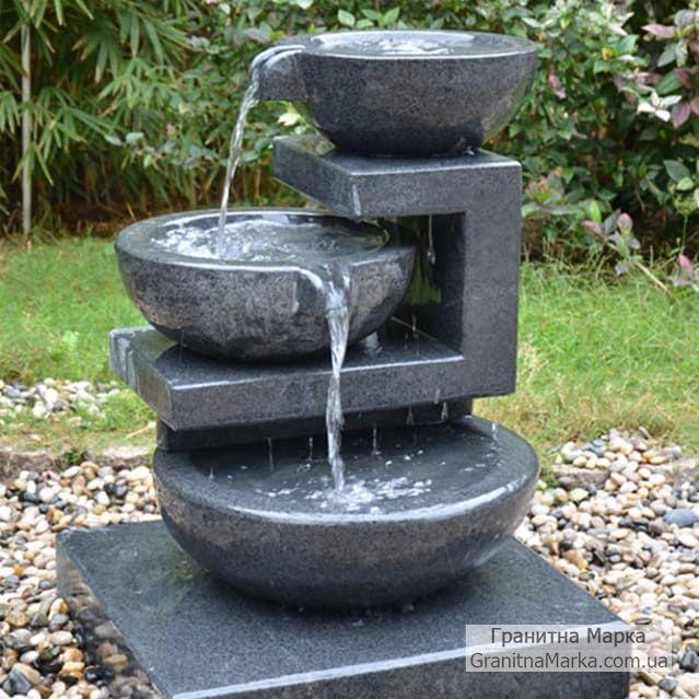 Небольшой китайский фонтан с тремя чашами, фото №123