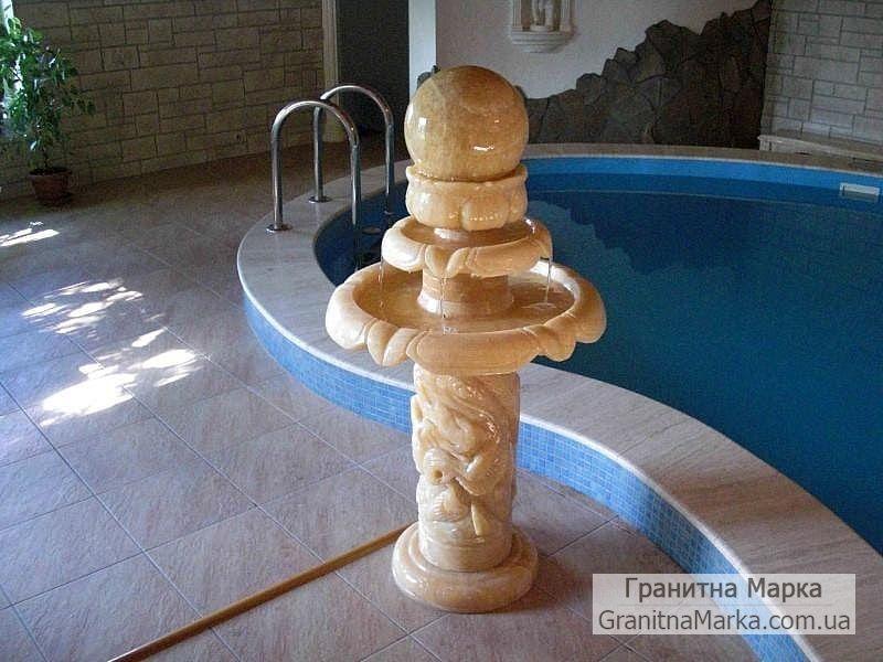 Мини-фонтан из литьевого мрамора