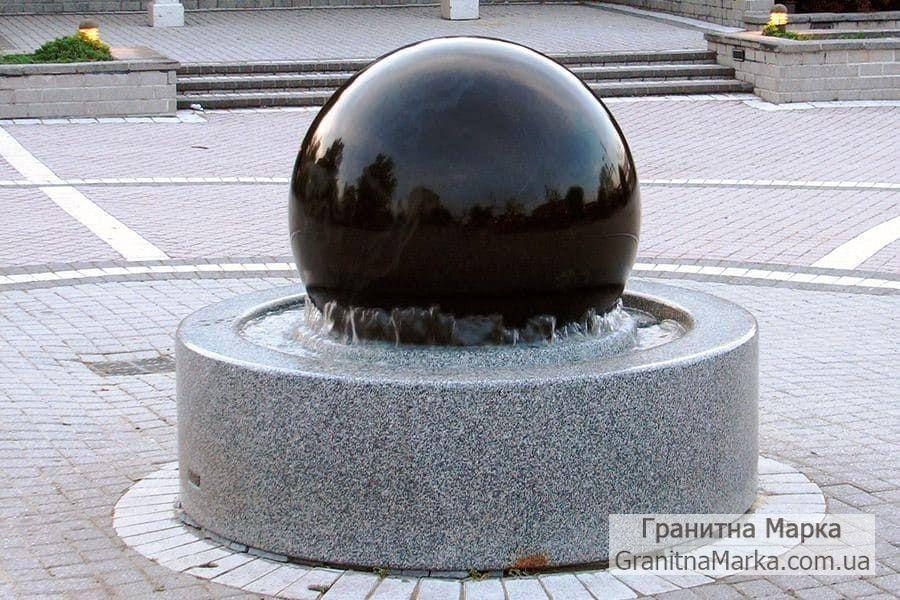Фонтан-шар из натурального гранита, №301