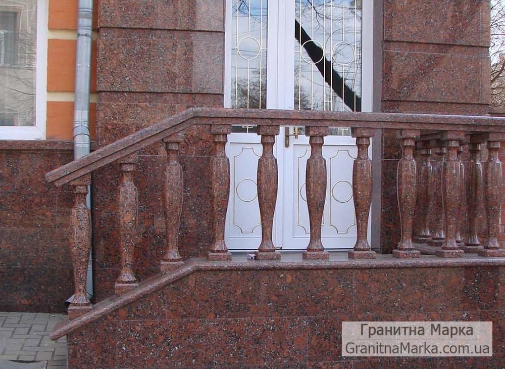 Балясины из красного гранита - Купустинский, фото №03