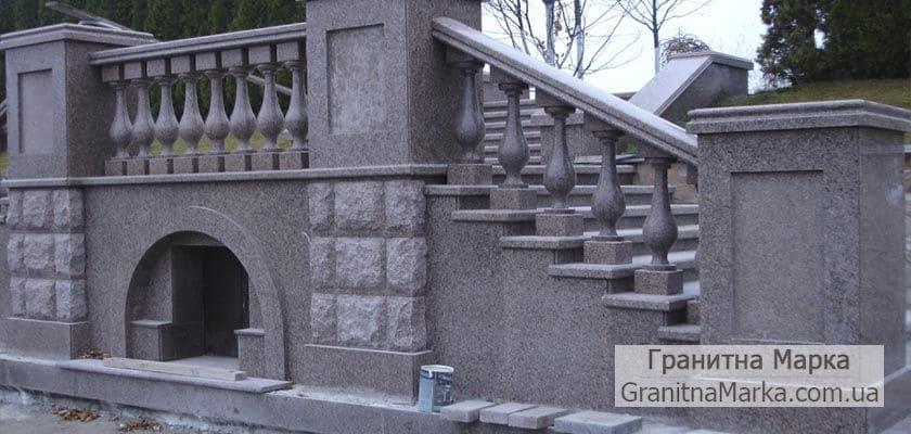 Гранитная балюстрада на мостовой, фото №07