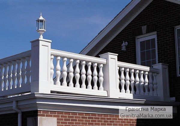 Мраморные перила и балясины для балкона, фото №11