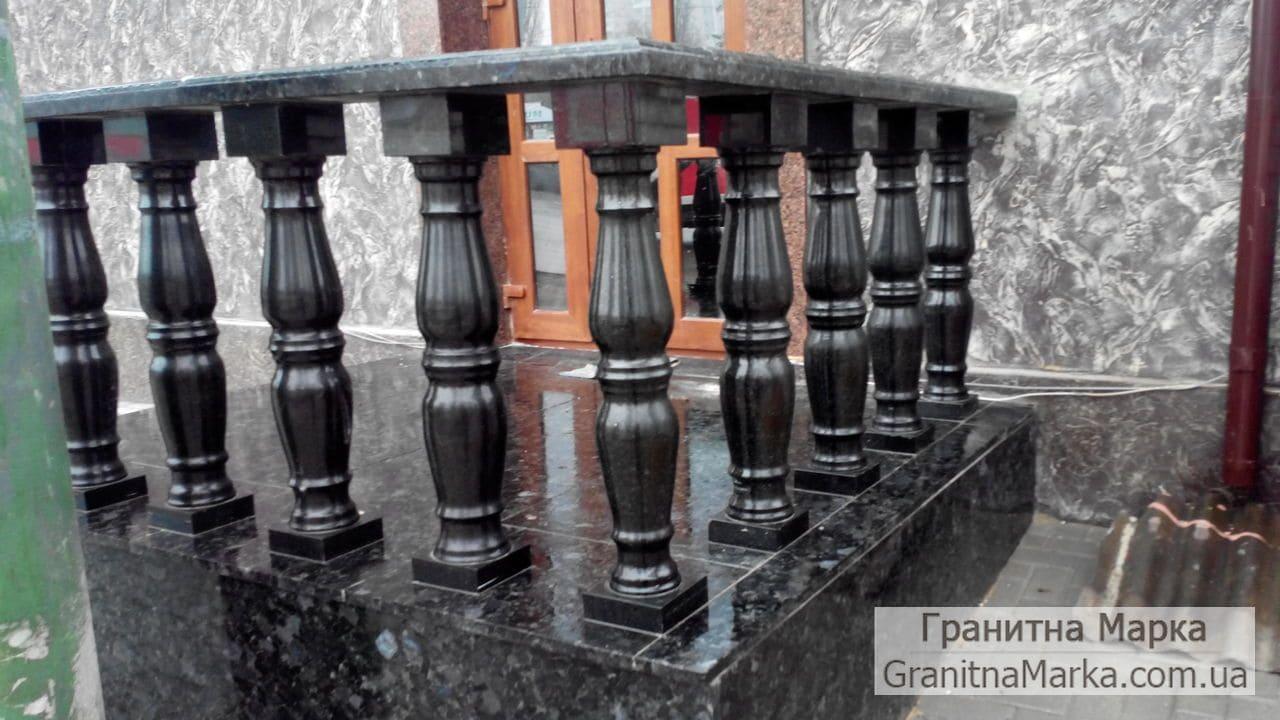 Балясины из черного гранита Габбро, фото №14