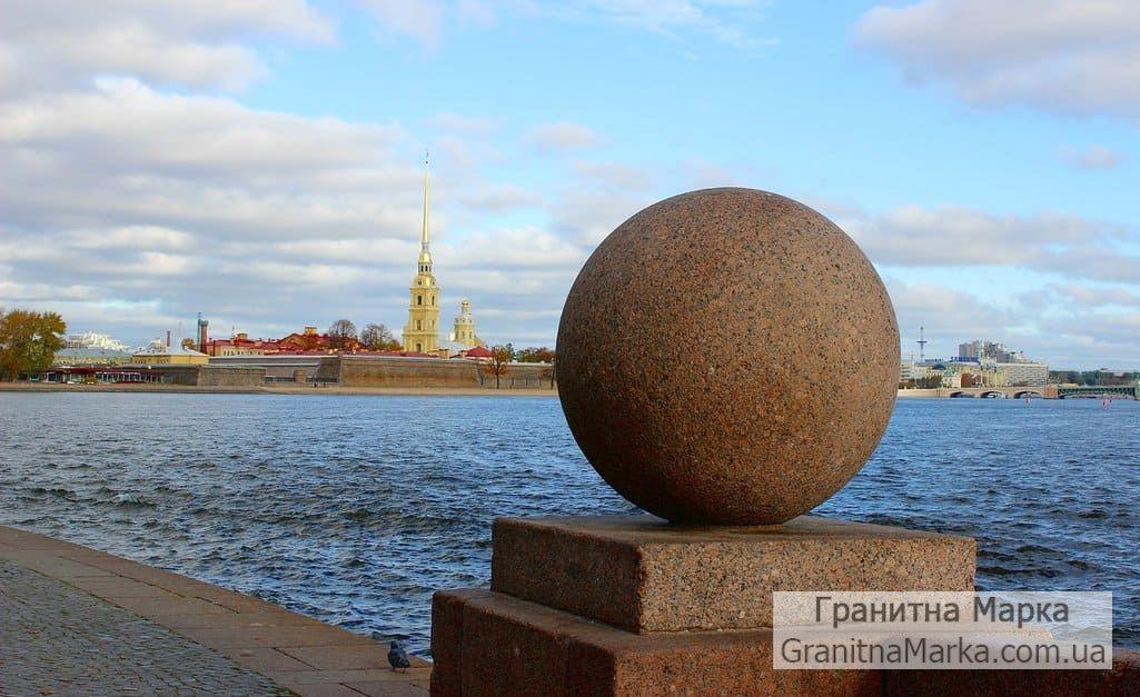 Гранитный Шар на Невской набережной, фото №02