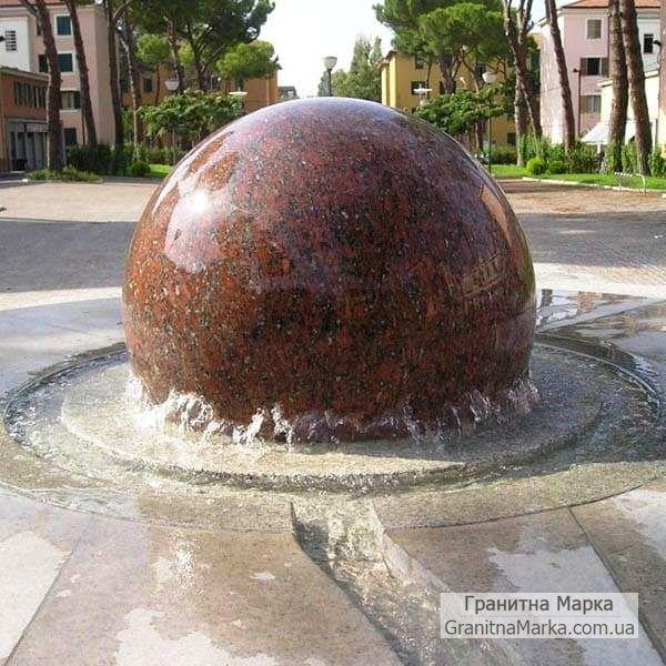 Большой плавающий шар из гранита, фото №09