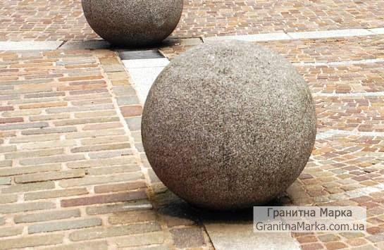Оградительные шары из гранита, фото №14