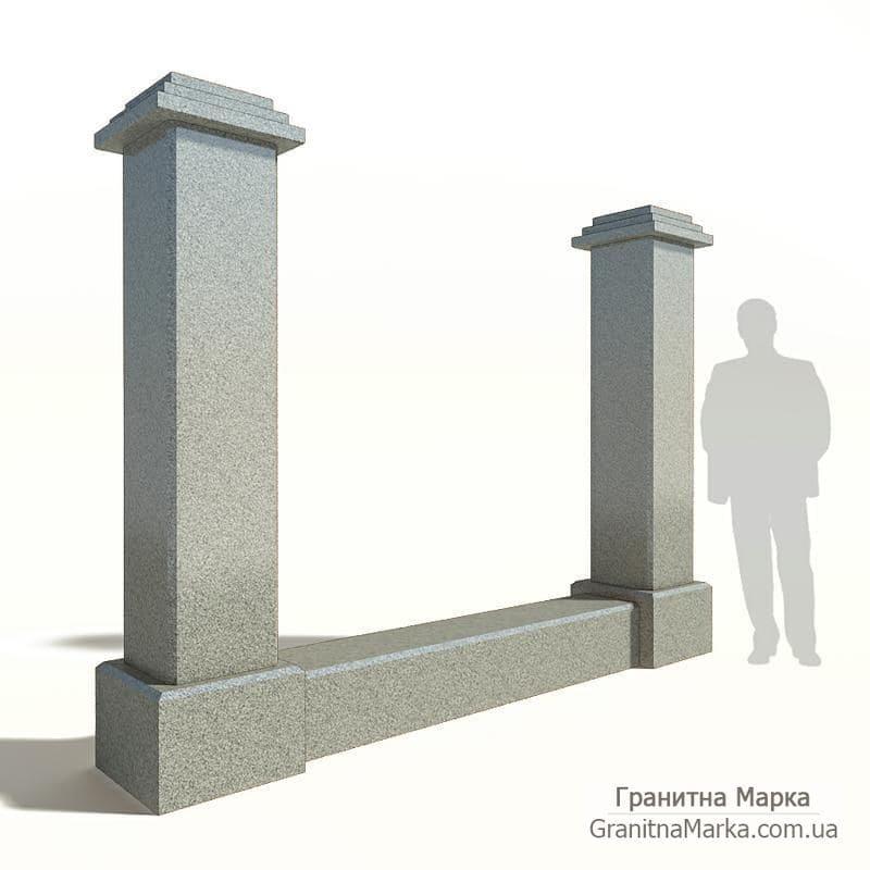 Квадратные колонны-столбы для забора, фото №G-01