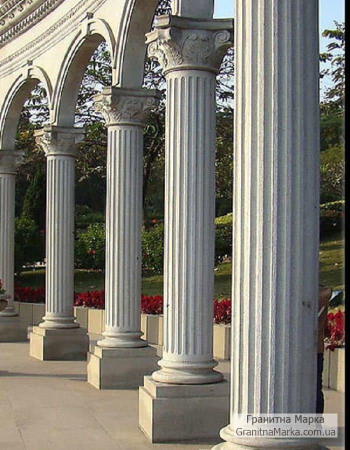 Греческие колонны из гранита, фото №G-02