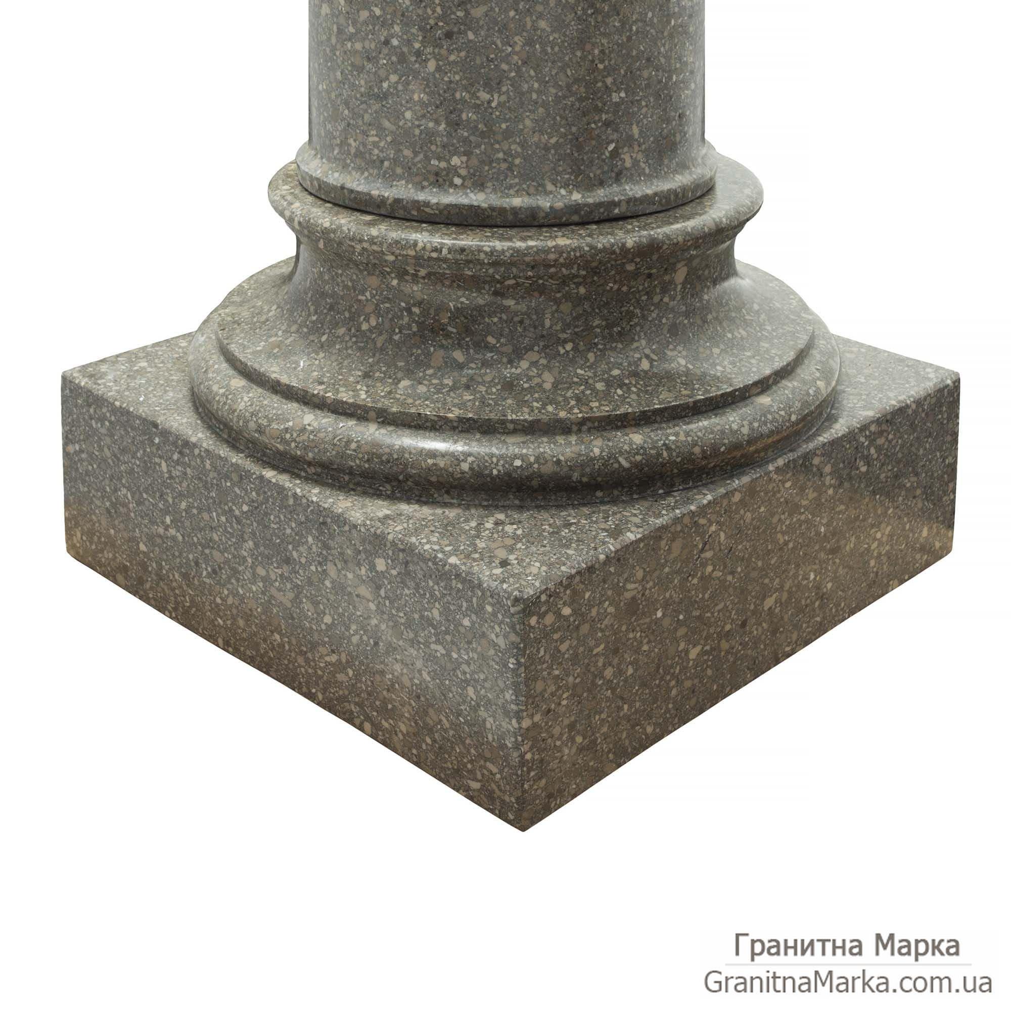 Гранитное основание колонны, фото №G-13