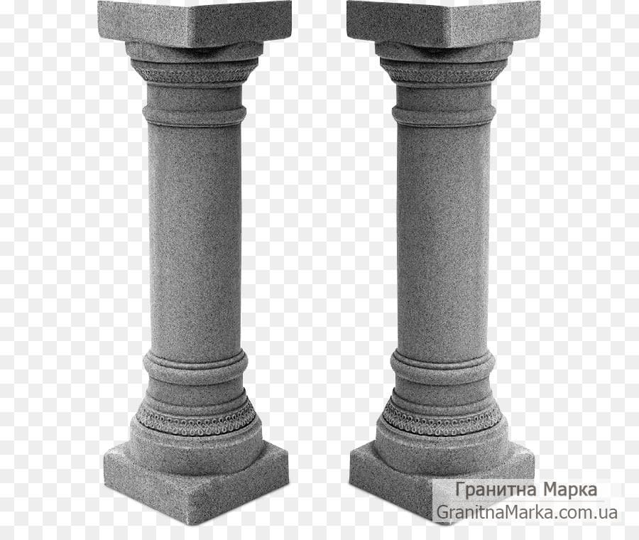 Гранитная колонна-подставка, фото №G-14