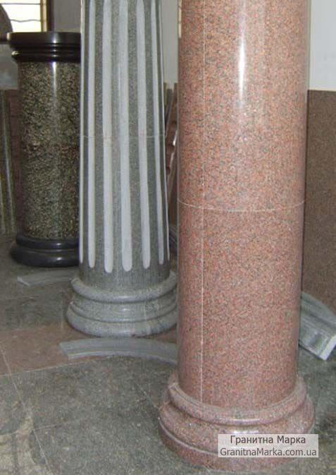 Изготовление колонн из гранита, фото №G-18