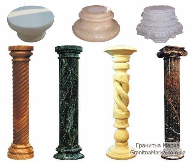 Фигурные колонны из мрамора, фото №M-02