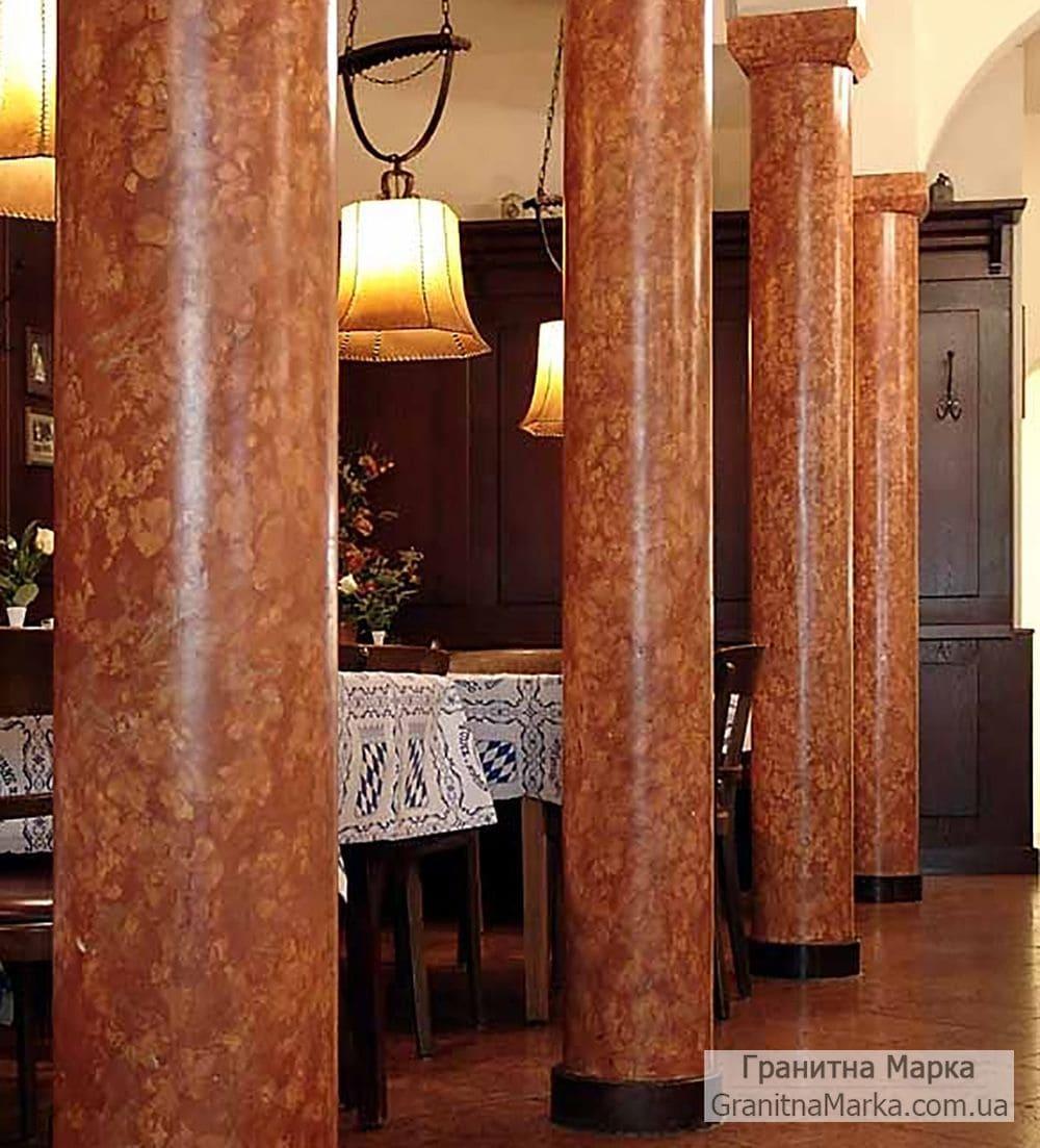 Колонны из красного мрамора, фото №M-03
