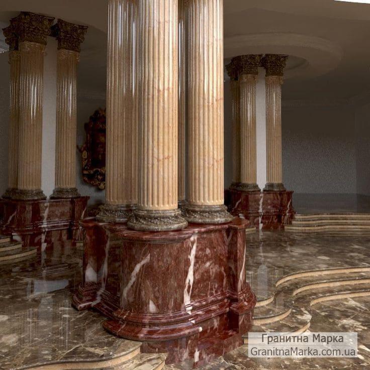 Красивая мраморная колонна, фото №M-10