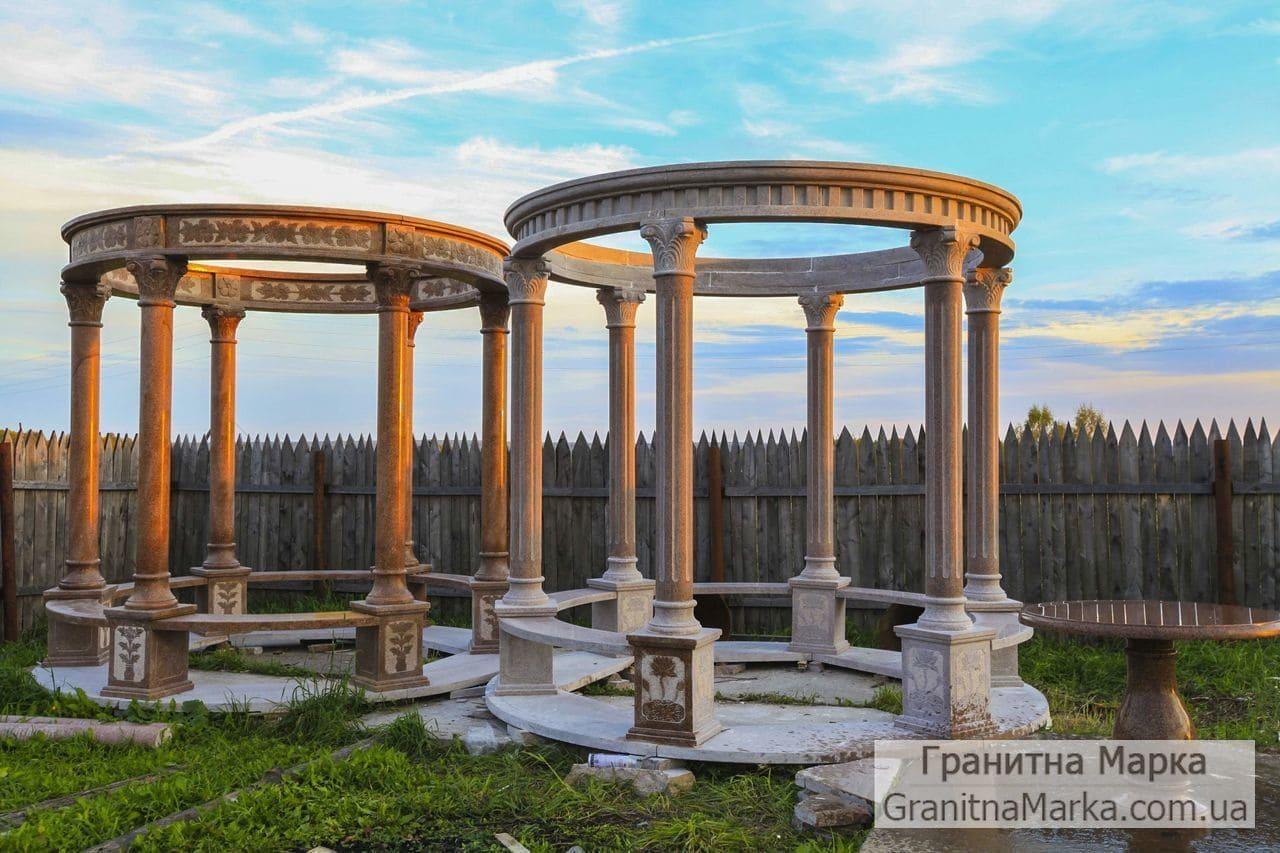 Мраморные колонны для беседки (альтанки), фото №M-11