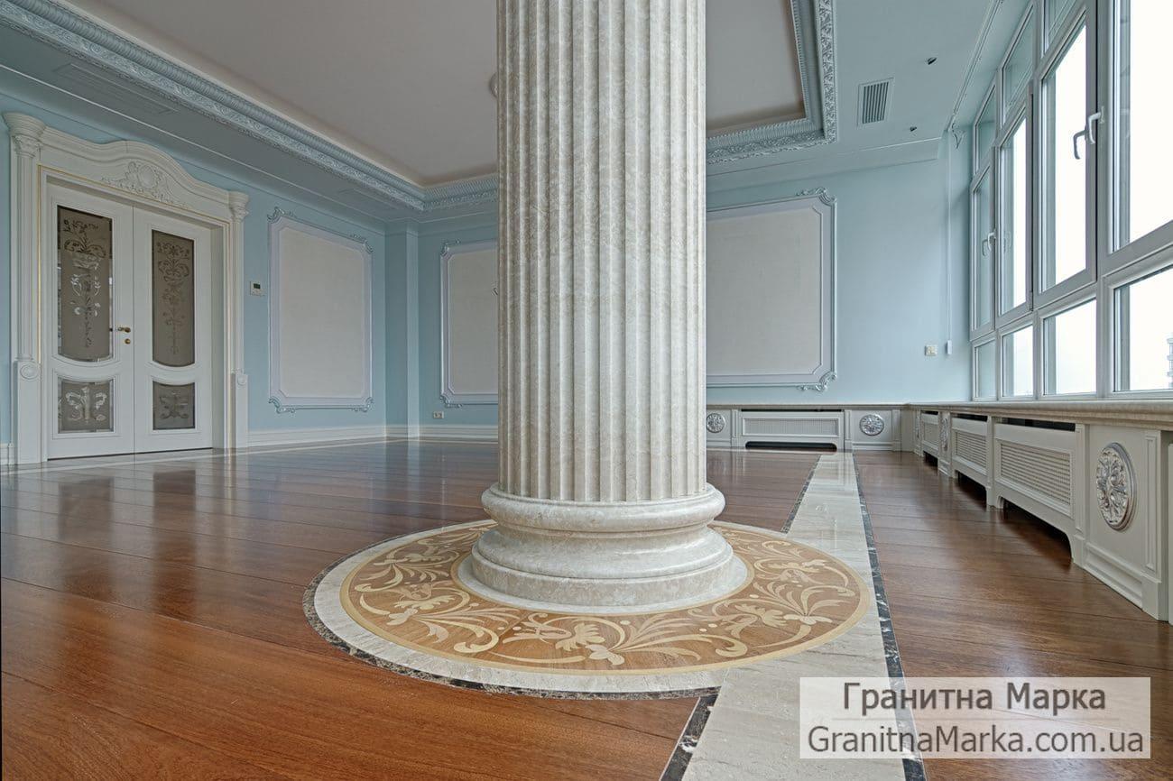 Фальш-колонна из мрамора с каннелюрами, фото №M-18