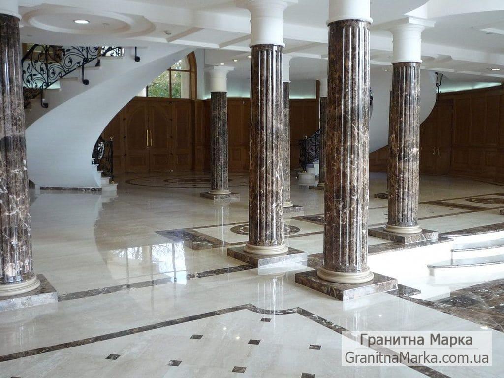 Мраморные колонны с каннелюрами, фото №M-20