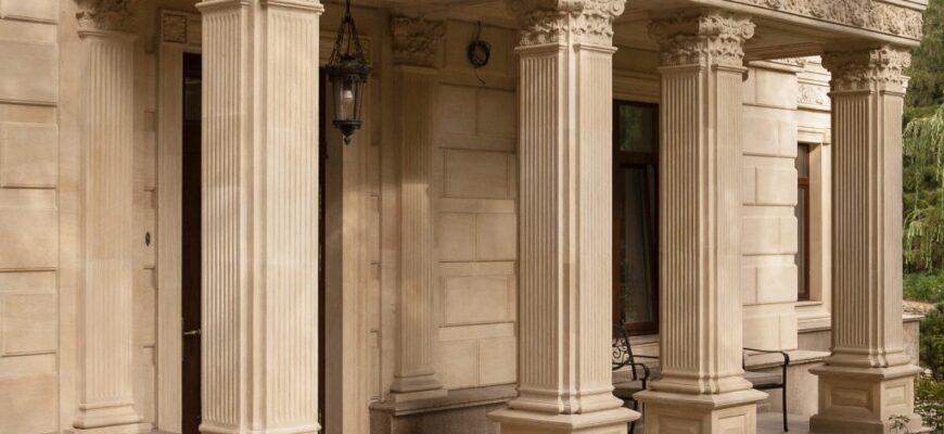 Изготовление колонн из гранита и мрамора